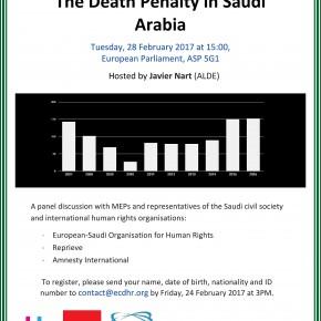 Javier Nart organiza hoy: «Justicia denegada: La pena de muerte en Arabia Saudí»