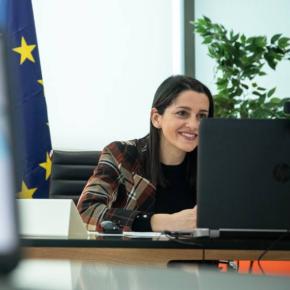 Cs defiende ante la vicepresidenta de Valores y Transparencia del Comisión Europea la despolitización del CGPJ frente a la reforma impulsada por el Gobierno